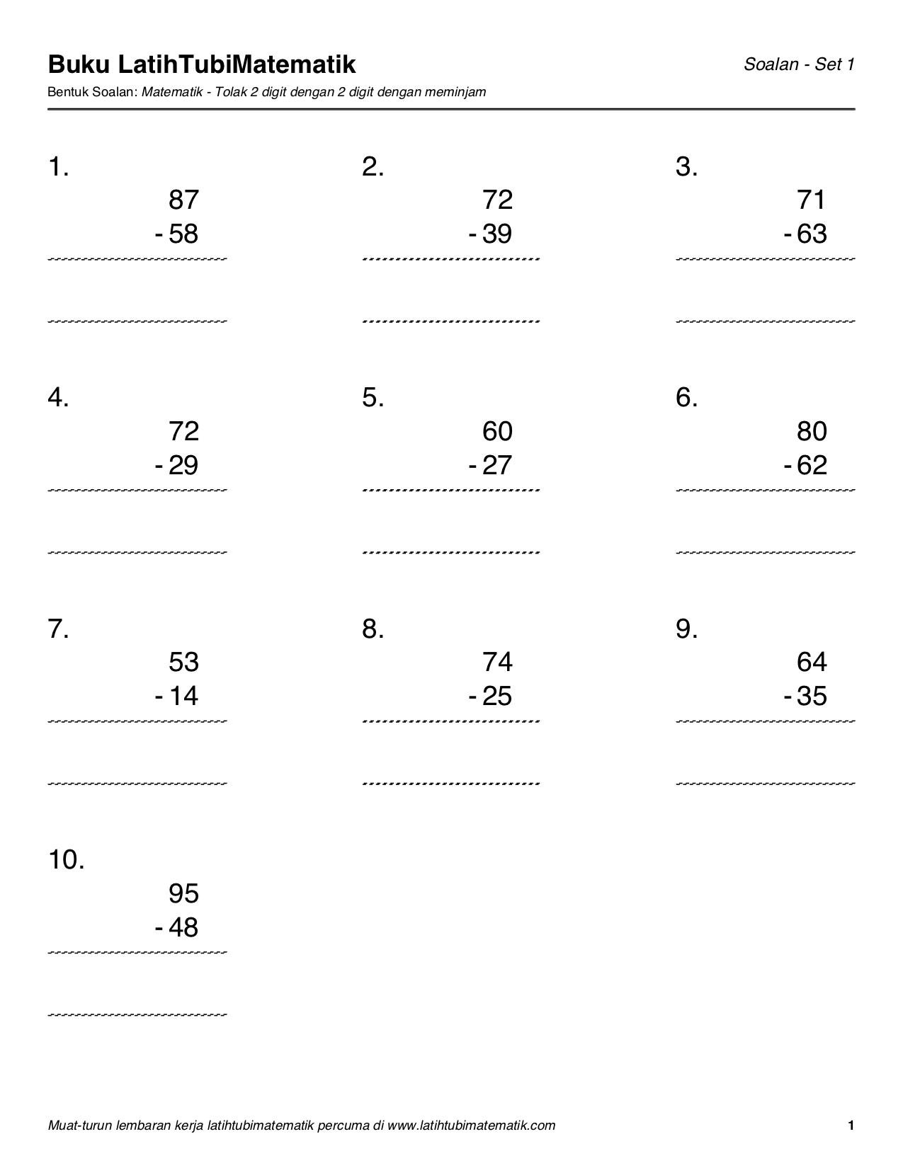 Latihtubimatematik Com Kami Akan Menyediakan Latihtubi Untuk Pelajaran Matematik Sekolah Rendah Secara Percuma Yang Berkaitan Dengan Tambah Tolak Darab Bahagi Kami Juga Akan Penyediakan Latihtubi Mengikut Topik Selaras Dengan Kssr